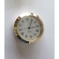 36mm Clock Fit Up Gold Roman White Face